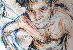 2736Πορτρέτα με μολύβι σε χαρτί 21 Χ 29 εκ